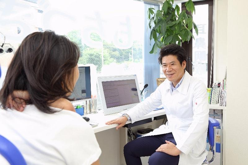 患部の状況を、画像や動画を用いて丁寧に解説
