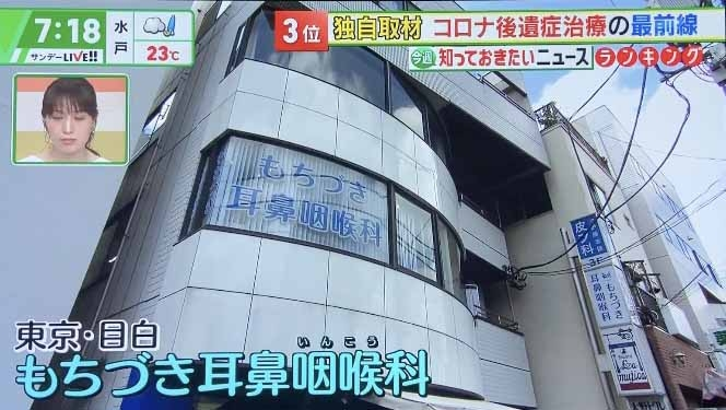 テレビ朝日/もちづき耳鼻咽喉科